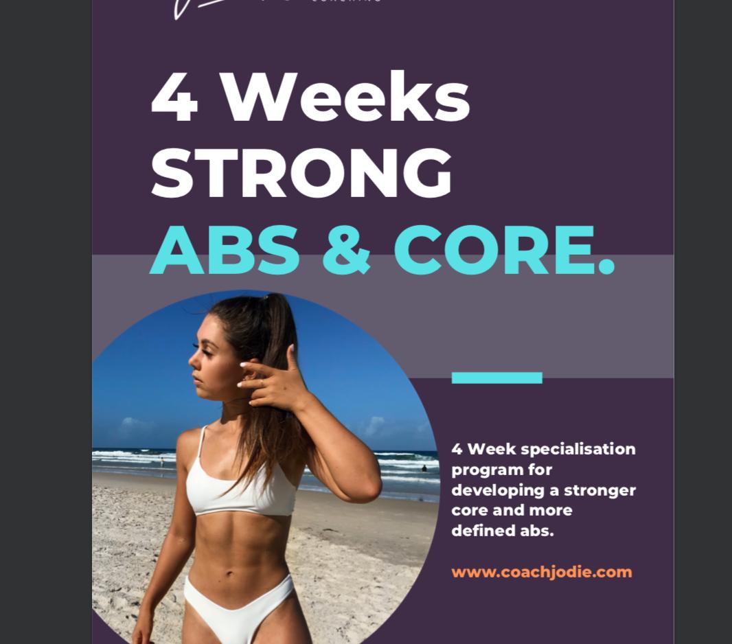 Strong Abs & Core - 4 Week Program
