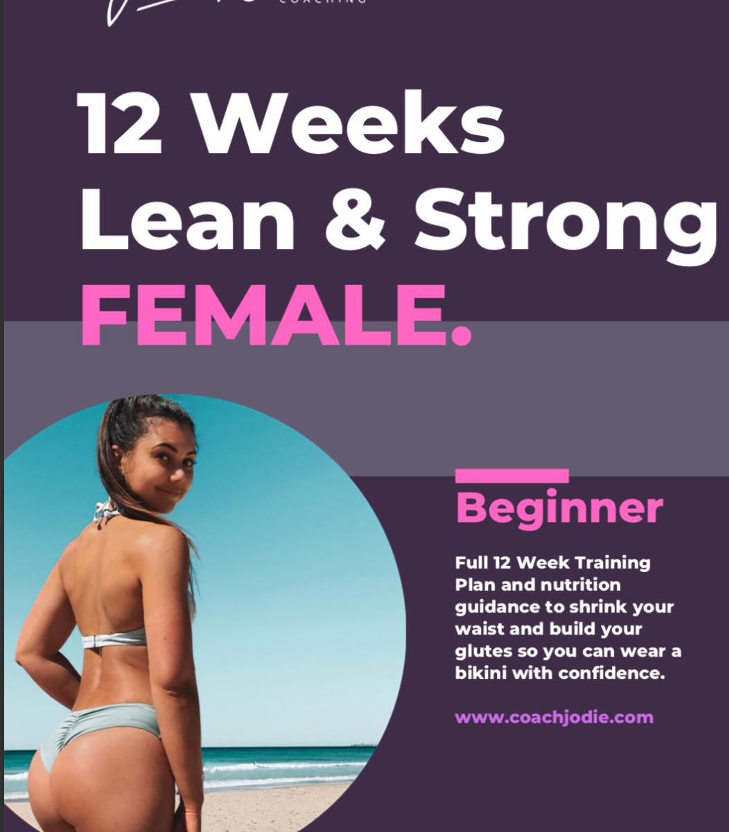 Lean & Strong 12 Week Program- Beginner